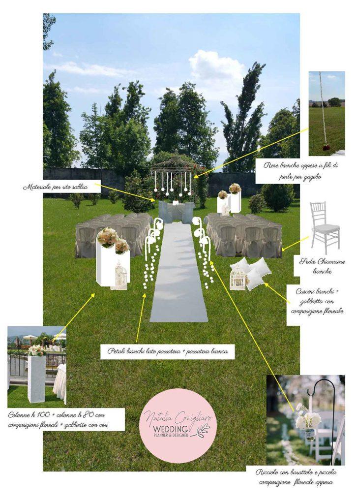 progetto allestimento matrimonio torino wedding planner