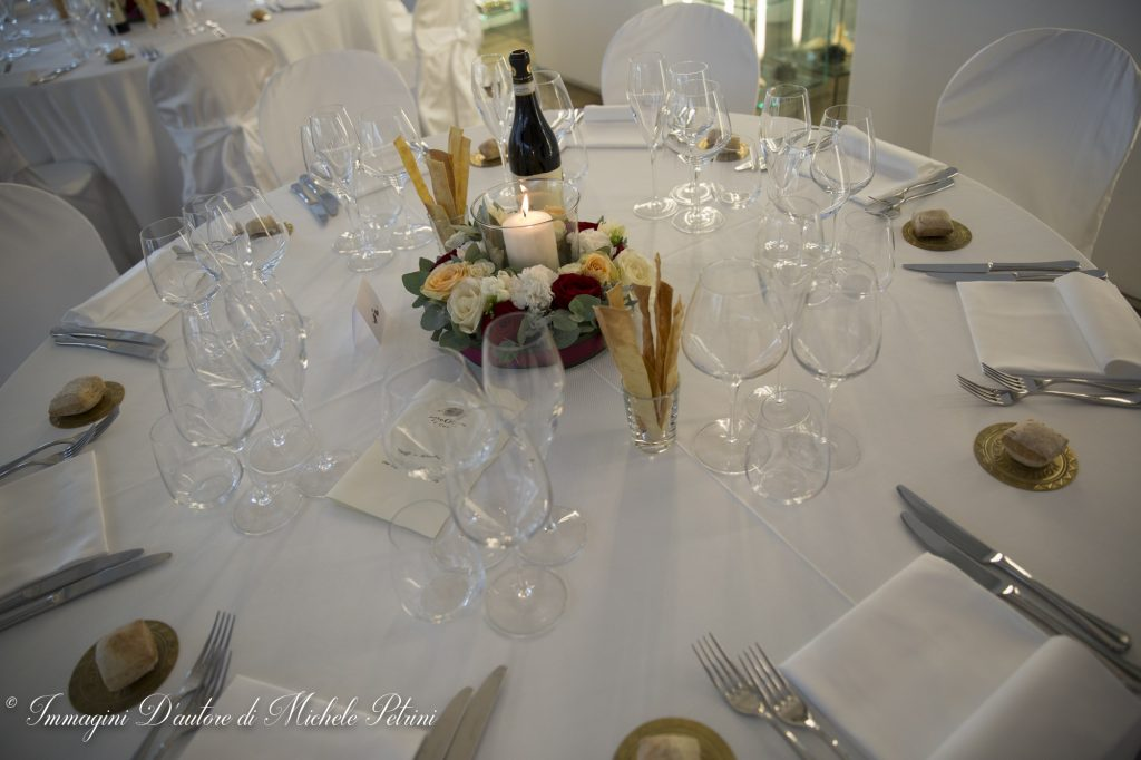 centrotavola sala cena wedding planner torino matrimonio