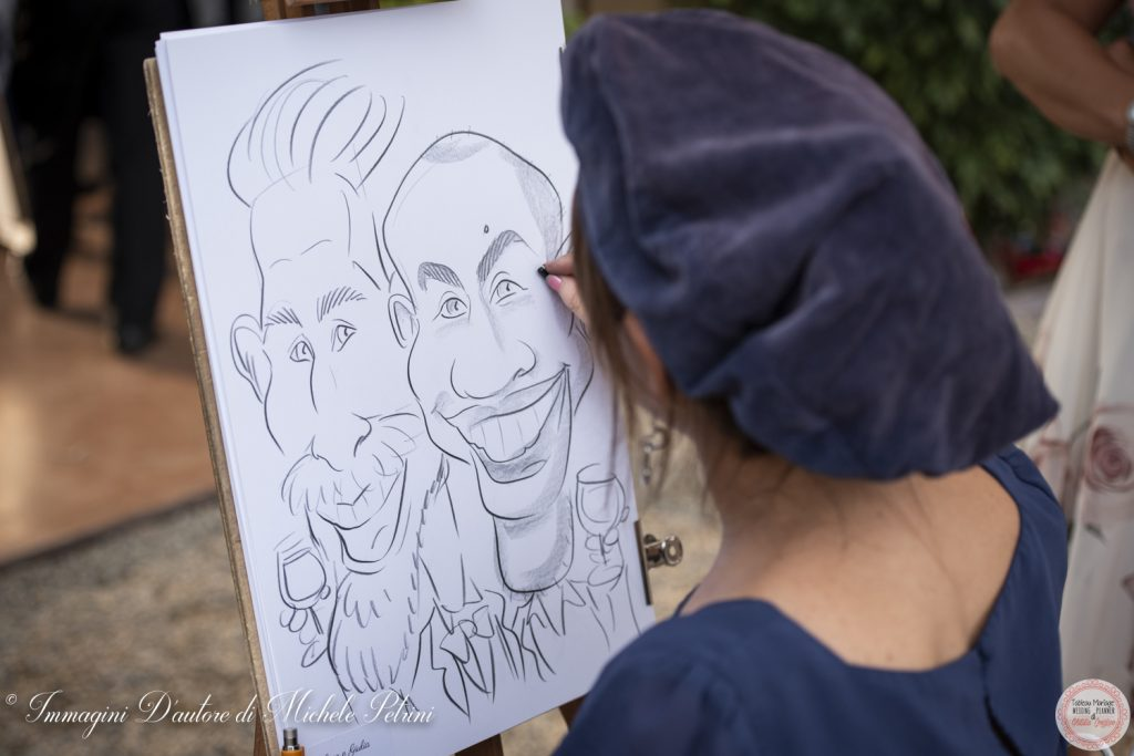 caricaturista aperitivo wedding planner torino matrimonio location