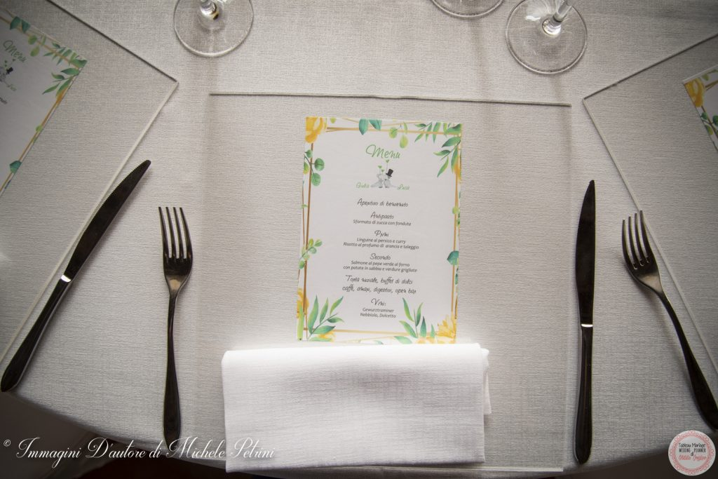 menu stationery wedding planner torino matrimonio