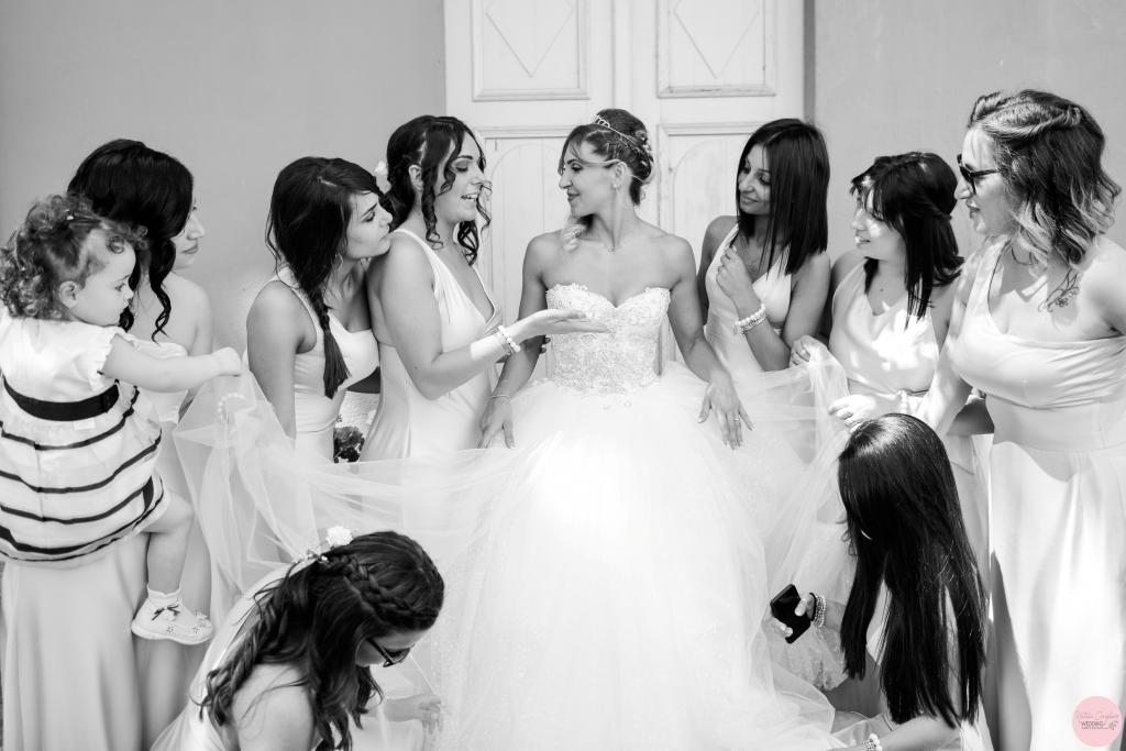 sposa e damigelle matrimonio torino