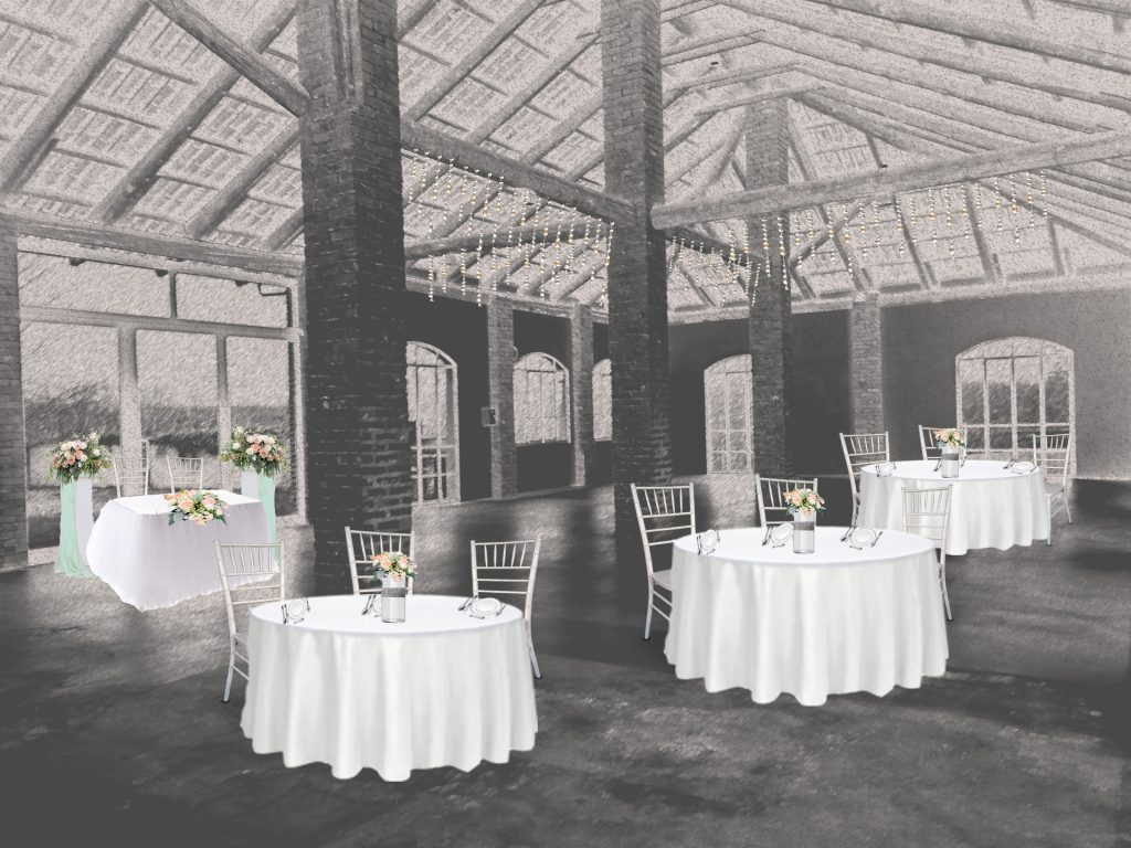 progetto allestimento matrimonio sala
