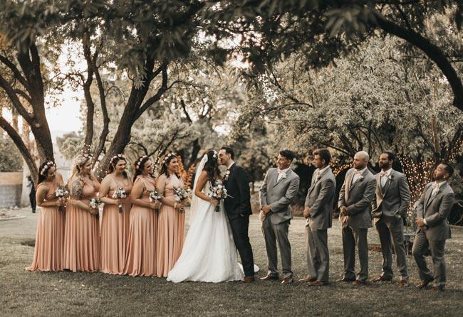 damigella d'onore matrimonio e testimoni